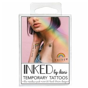INKED BY DANI THE RAINBOW PACK TEMPORARY TATTOOS